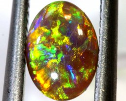 N2 - 0.70CTS BLACK CRYSTAL  OPAL POLISHED STONE INV-JAN5