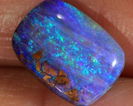2.5ct 12x9mm Pipe Wood Fossil Boulder Opal  [LOB-1454]