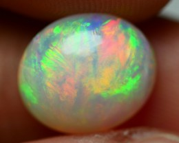 3.50 CRT BRILLIANT GREENISH NEON FIRE PLAY COLOR WELO OPAL