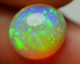 2.35 CRT BEAUTY ROUND PIN FIRE PATTERN MULTICOLOR WELO OPAL