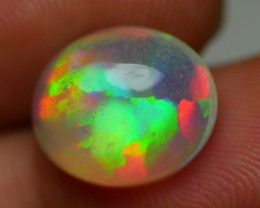 4.55 CRT GORGEOUS PRISM FIRE FLAGSTONE PATTERN MULTICOLOR WELO OPAL