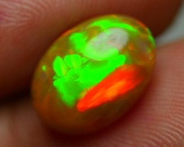 2.90 CRT BRILLIANT PLUME PATTERN NEON COLOR CARAMEL WELO OPAL