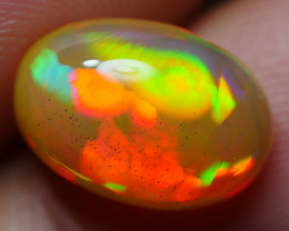 2.50 CRT STUNNING FLAGSTONE SWEET NEON FLASH COLOR WELO OPAL