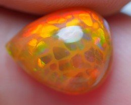 2.20 CRT UNIQE 3D HEXAGON HONEYCOMB FIRE BROWN BASE WELO OPAL