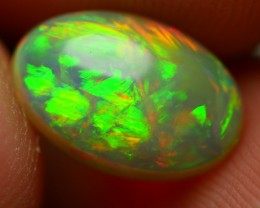 1.40 CRT GORGEOUS DOUBLE SIDE RAINBOW NEON FIRE BRIGHT WELO OPAL