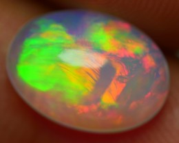 1.80 BRILLIANT CRYSTAL CLEAR BROADSTIPE NEON PLAY COLOR FIRE WELO OPAL