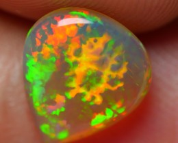 1.00 CRT AMAZING DARK BASE FISH SCALE PATTERN PLAY MILTICOLOR WELO OPAL