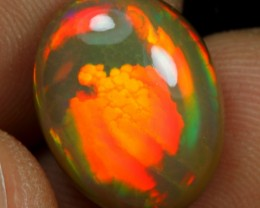 6.25cts FISH SCALE & BROAD NEON FIRE Natural Eth Welo Opal