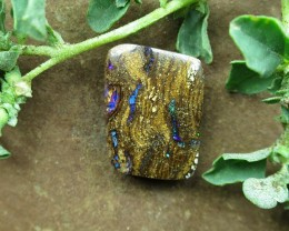 "14cts,""BOULDER WOOD OPAL~FOSSIL STONE"""