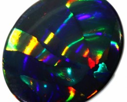 5.05 CTS RARE ROLLING  MACKEREL  BLACK OPAL -LIGHTNING RIDGE- [LRO199]SAFE