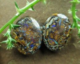 "60cts,""BOULDER MATRIX OPAL~PATTERN PAIR"""