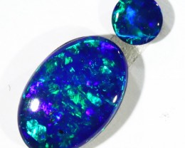 0.92CTS  OPAL DOUBLET SKIN SHELL GREAT COLOUR PLAY--S106