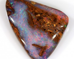 6.3ct 15.5x13mm Pipe Wood Fossil Boulder Opal  [LOB-1476]
