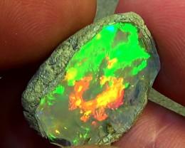 14.00 cts Ethiopian Welo FLASH CHAFF brilliant crystal opal N9 5/5