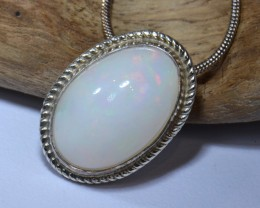 SOLID WELO OPAL HIGH QUALITY .925 STERLING FABULOUS PENDANT