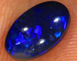 1.3ct 9.5x6mm Solid Lightning Ridge Black Opal [LO-1053]