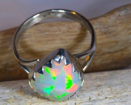 Sz10 LARGE WELO OPAL HIGH QUALITY .925 STERLING FABULOUS RING