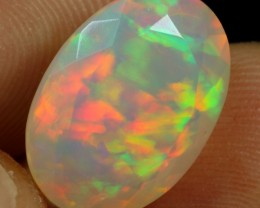 5.35cts Fire Floral Faceted Ethiopian Opal