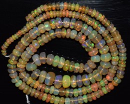 40.10 Ct Natural Ethiopian Welo Opal Beads Play Of Color
