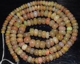 48.35 Ct Natural Ethiopian Welo Opal Beads Play Of Color