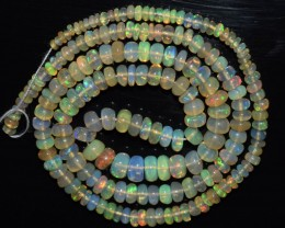 42.55 Ct Natural Ethiopian Welo Opal Beads Play Of Color