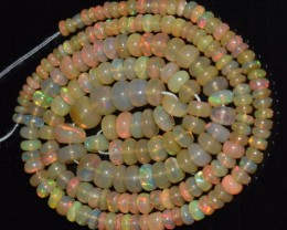 43.60 Ct Natural Ethiopian Welo Opal Beads Play Of Color