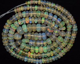 45.35 Ct Natural Ethiopian Welo Opal Beads Play Of Color