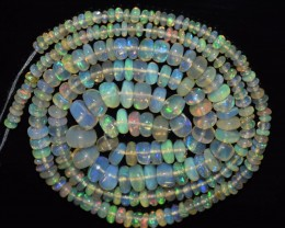35.70 Ct Natural Ethiopian Welo Opal Beads Play Of Color