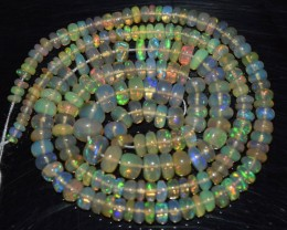 41.10 Ct Natural Ethiopian Welo Opal Beads Play Of Color
