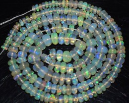 43.20 Ct Natural Ethiopian Welo Opal Beads Play Of Color