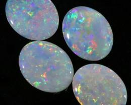 3.28Cts Set  4 matching  Fire opals  Flower pattern SU1302