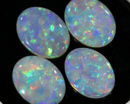 2.78Cts Set  4 matching  Fire opals  Flower pattern SU1304
