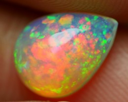 1.50 CRT BEAUTYFUL CRYSTAL RAINBOW PATCHWORK PATTERN FIRE WELO OPAL