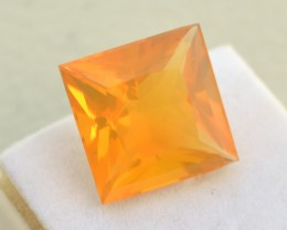 13.38 Carat Fantastic Princess Cut Brazilian Fire Opal