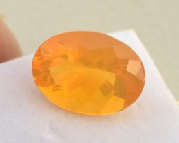 8.70 Carat Oval Cut Very Fine Brazilian Fire Opal