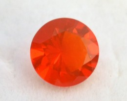 1.53 Carat Very Fine Round Cut Mexican Fire Opal