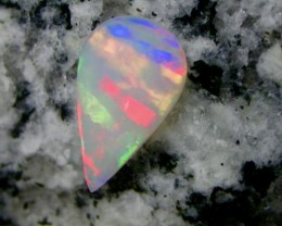 2.56ct BROAD FLASH FIRE AND STRIPE PATERN CRYSTAL TEARDROP OPAL