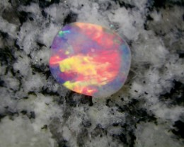 1.5ct BRILIANT COLORS  FULLY SATURATED DOUBLE SIDED CRYSTAL OPAL