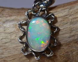 ETHIOPIAN  SOLID OPAL QUALITY .925 STERLING FABULOUS PENDANT
