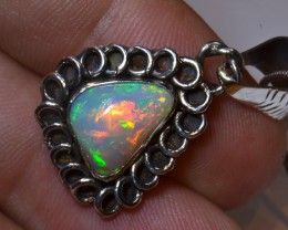 ETHIOPIAN  SOLID OPAL QUALITY STONE STERLING PENDANT