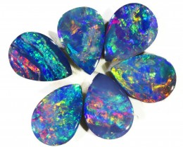2.12CTS  6pcs OPAL DOUBLET PARCEL GREAT COLOUR PLAY --S119