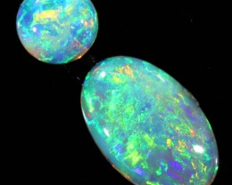 0.8CTS COOBER PEDY OPAL PAIR GREAT COLOUR PLAY   S139