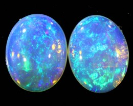 2.72CTS COOBER PEDY OPAL PAIR GREAT COLOUR PLAY   S141