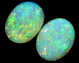 2.34CTS COOBER PEDY OPAL PAIR GREAT COLOUR PLAY   S143