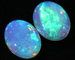 3.41CTS COOBER PEDY OPAL PAIR GREAT COLOUR PLAY   S147