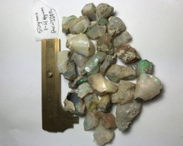 50 Grams Welo Ethiopia Opal Rough Parcel. Size range 1-4.4 grams per
