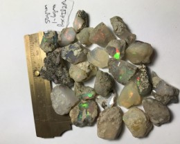 50 Grams Welo Ethiopia Opal Rough Parcel. Size range 1-6 grams per