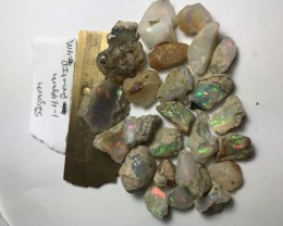 52 Grams Welo Ethiopia Opal Rough Parcel. Size range 1-4.4 grams per