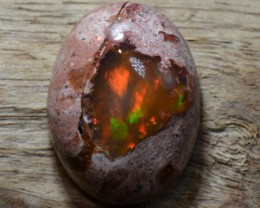 9ct Natural Mexican Matrix Cantera Multicoloured Fire Opal