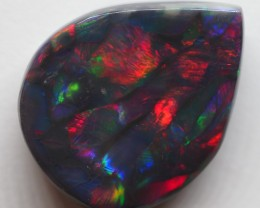 N2 16.75CT SOLID LIGHTNING RIDGE 'FIRE' BLACK OPAL  TT411